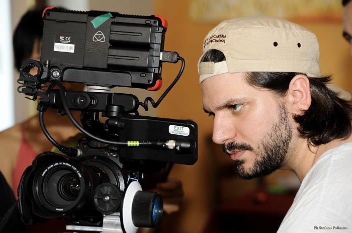 Roberto D'Antona sul set di Caleb